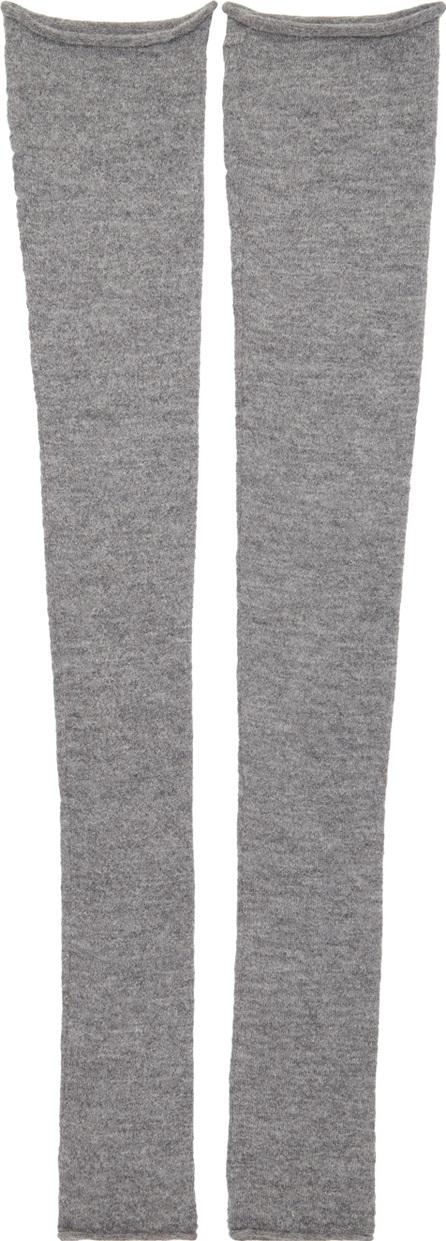 Acne Studios Grey Long Jill Leg Warmers