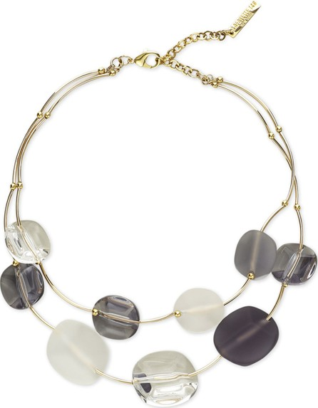 Lafayette 148 New York Lucite Stone Statement Necklace