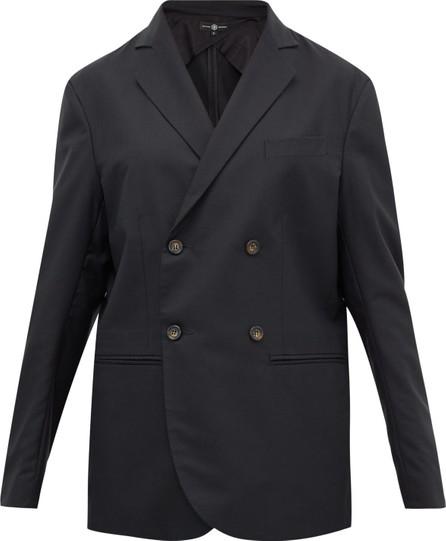 Edward Crutchley Double-breasted wool-crepe blazer