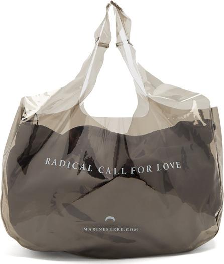 Marine Serre Vinyl logo shopper bag