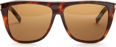 Saint Laurent Combi Flat-top acetate sunglasses