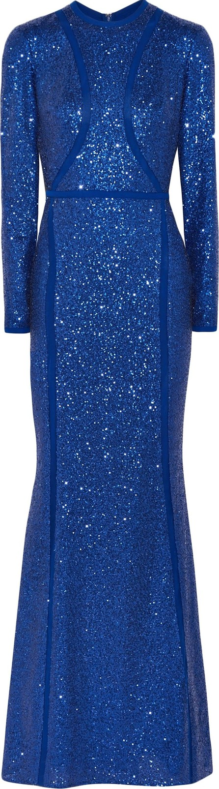 ELIE SAAB Sequined silk-blend tulle gown