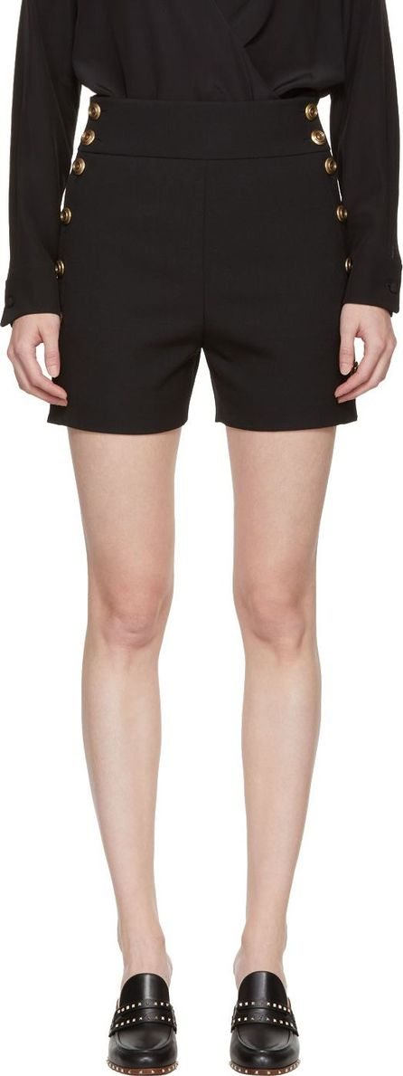 Chloe Black & Gold Button Shorts