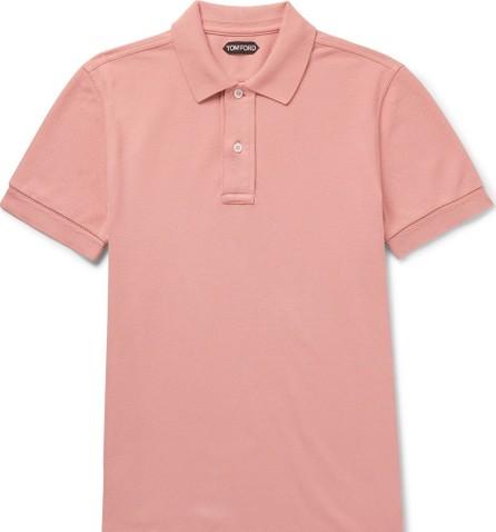 TOM FORD Garment-Dyed Cotton-Piqué Polo Shirt