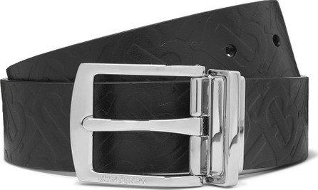 Burberry London England 3.5cm Embossed Leather Belt