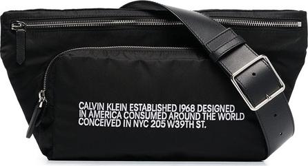 Calvin Klein 205W39NYC Black CK address print belt bag