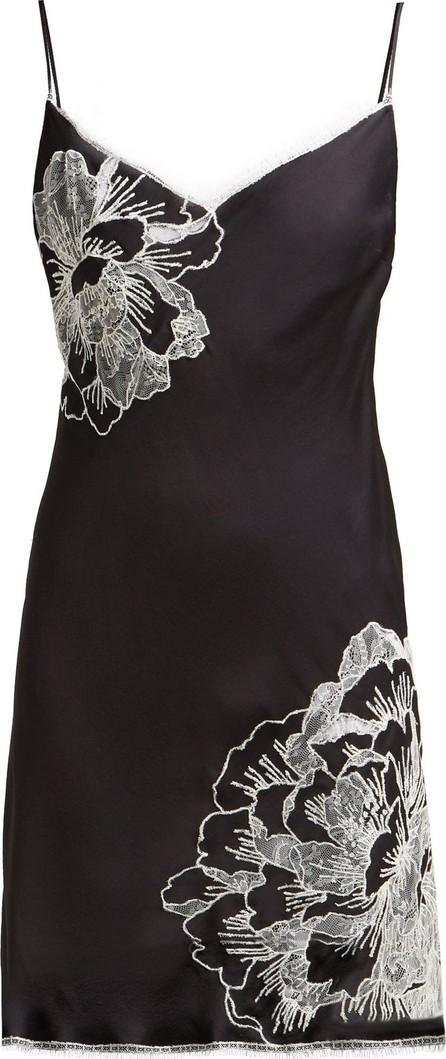 CARINE GILSON Lace-trimmed silk slip dress