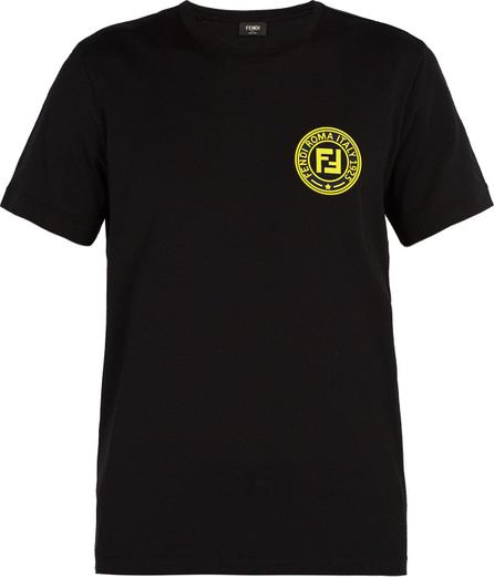 Fendi Logo-patch crew-neck cotton T-shirt