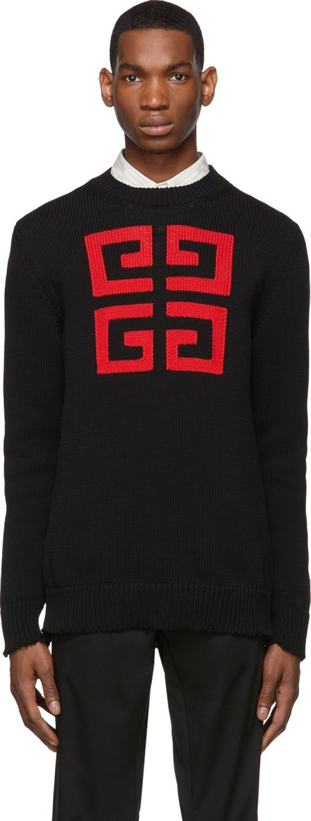 Givenchy Black & Red 4G Sweater