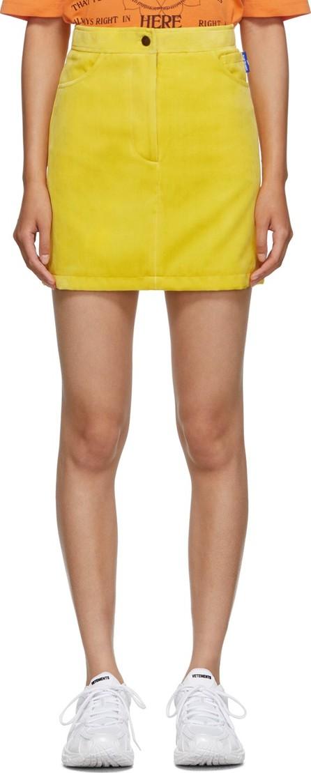 Anton Belinskiy Yellow Velvet Miniskirt