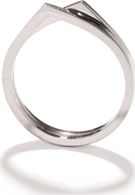 REPOSSI Antifer Two-Row Ring in 18K White Gold