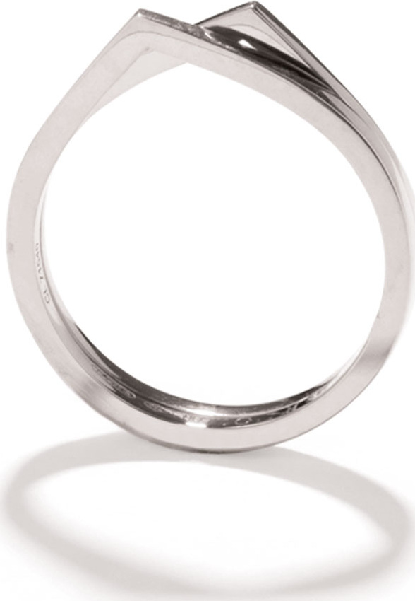 REPOSSI - Antifer Two-Row Ring in 18K White Gold