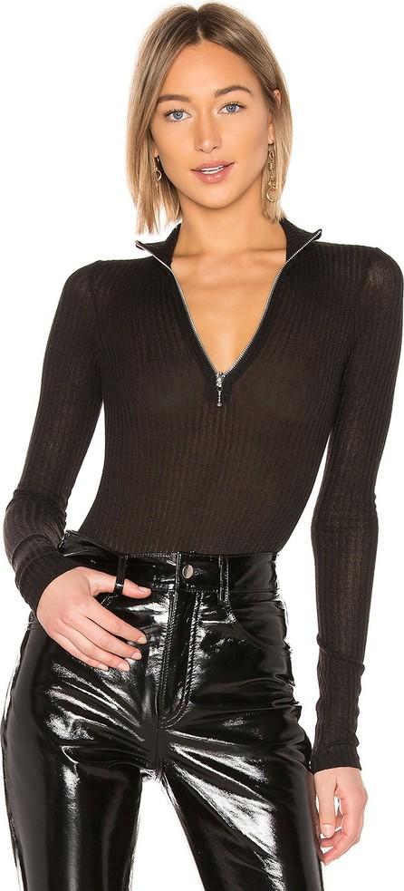 Danielle Guizio Zip Up Knit Turtleneck Bodysuit