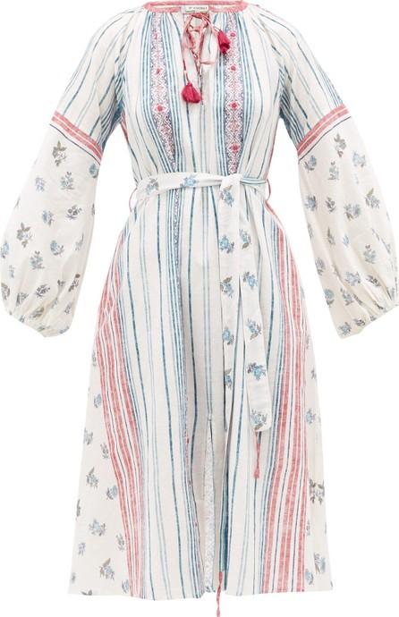 D'Ascoli Amangansett belted floral-print cotton dress