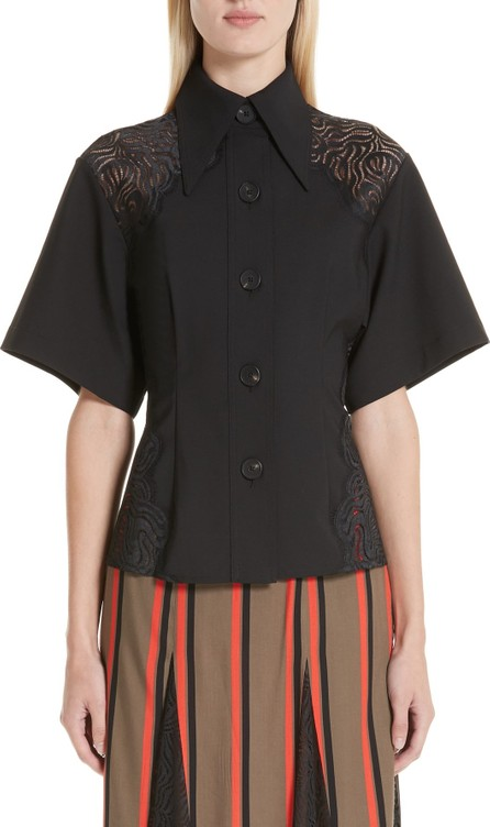 Beaufille Lace Detail Short Sleeve Blouse