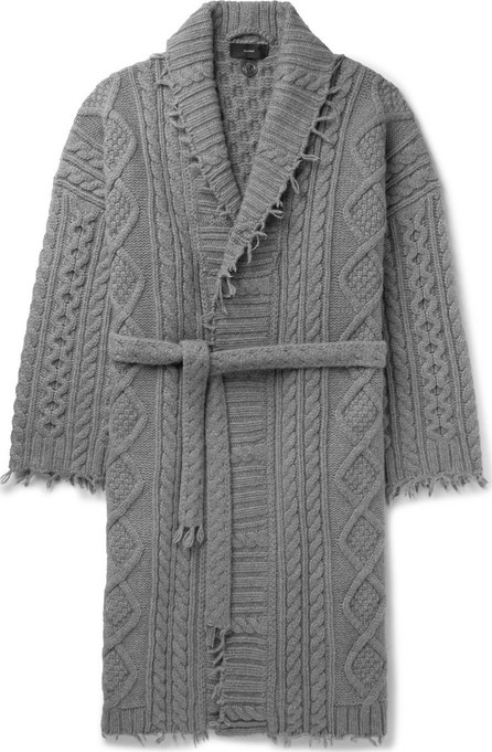 Alanui Fringed Cable-Knit Cashmere and Wool-Blend Cardigan