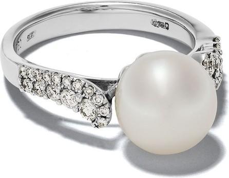Yoko London 18kt white gold Freshwater pearls and diamond ring