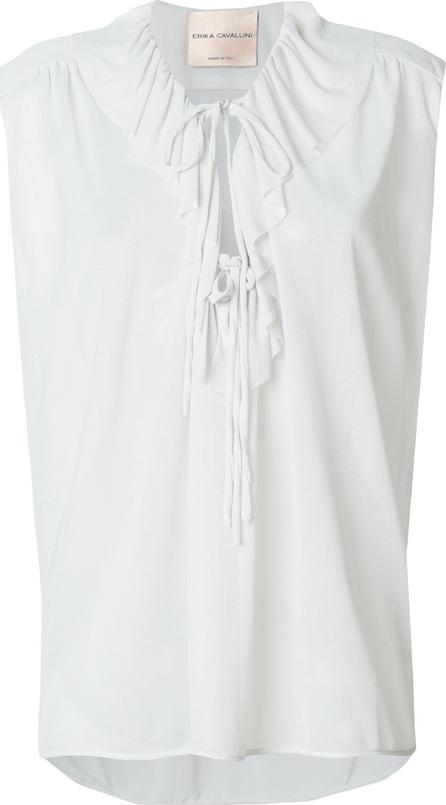 Erika Cavallini Tie neck ruffle blouse