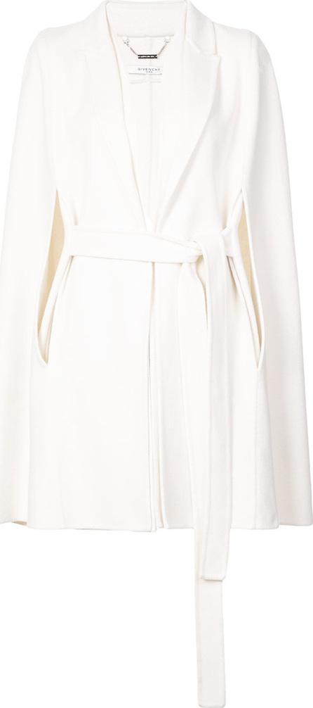 Givenchy Belted sleeveless draped coat