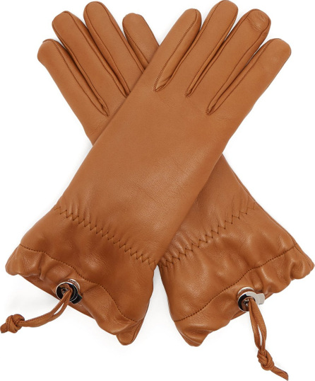 Jil Sander Drawstring leather gloves