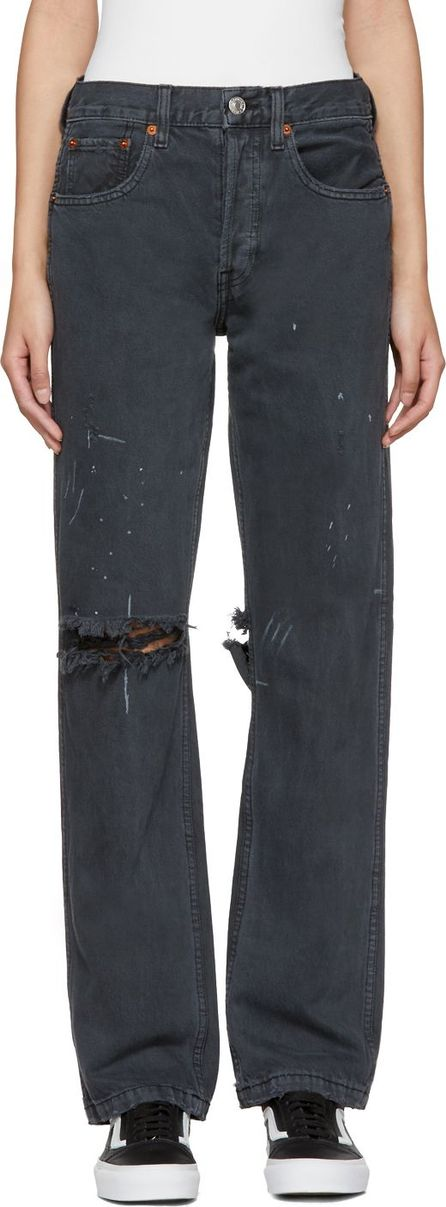 RE/DONE Black Originals Grunge Jeans