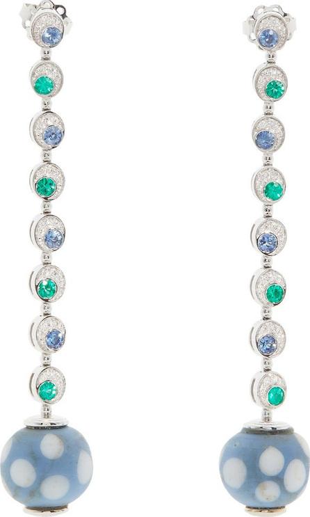 Francesca Villa 18kt white gold and Venetian eye-bead earrings