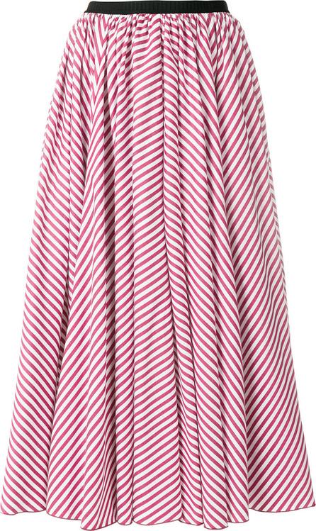 Antonio Marras Striped gathered midi skirt