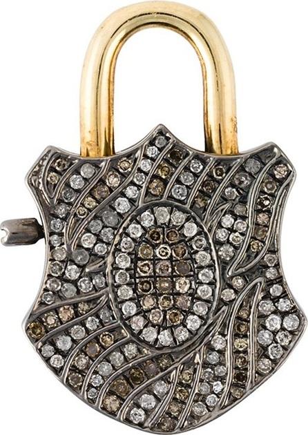 Gemco diamond padlock pendant