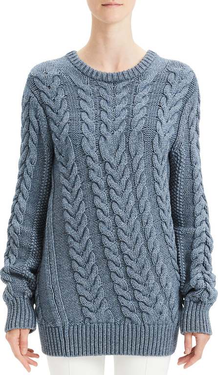 Theory Twisted Cable-Knit Wool-Blend Sweater
