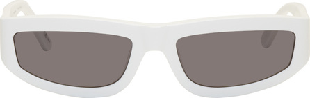 Stella McCartney White Slim Rectangular Sunglasses