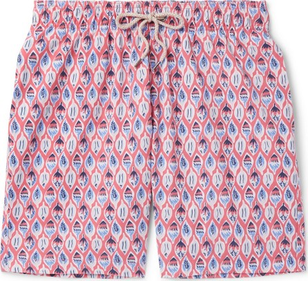 Faherty Beacon Long-Length Printed Swim Shorts