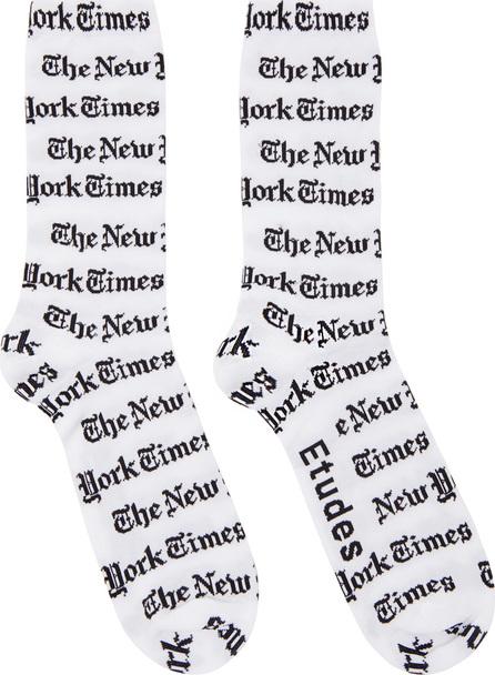 Etudes White New York Times Edition Tunnel Socks