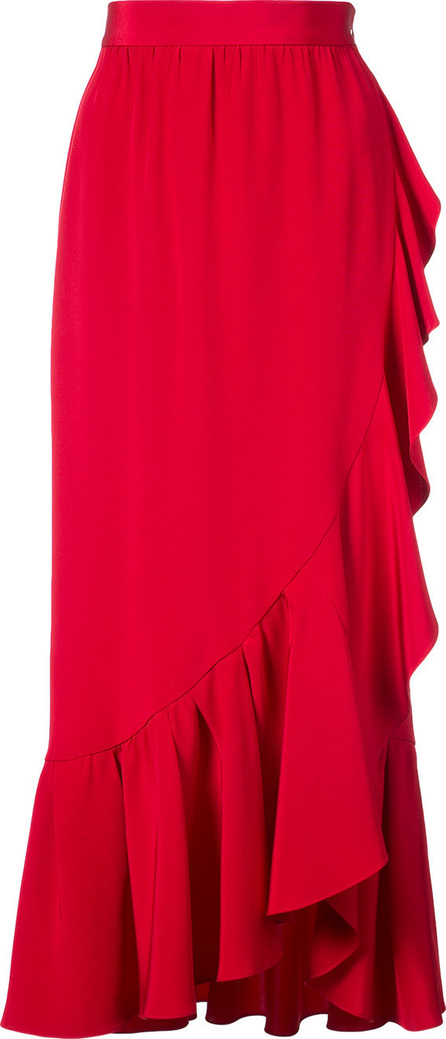 Adam Lippes Ruffled asymmetric midi skirt