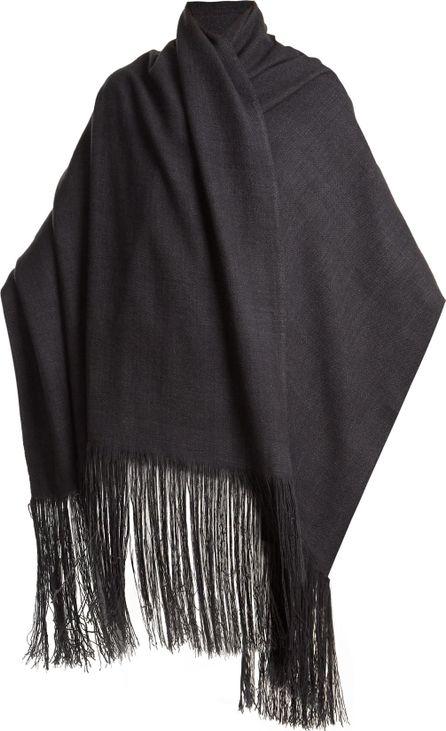 Denis Colomb Fringed bouclé-knit cashmere scarf