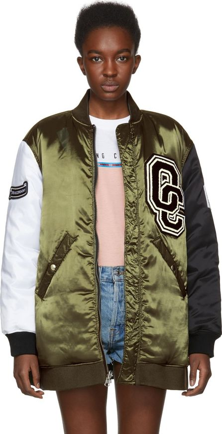 Opening Ceremony Reversible Green & Black Limited Edition Babydoll Bomber Jacket