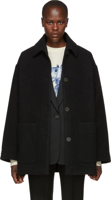 Acne Studios Black Four-Button Coat