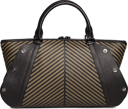 Akris Aimee Herringbone Leather Convertible Satchel