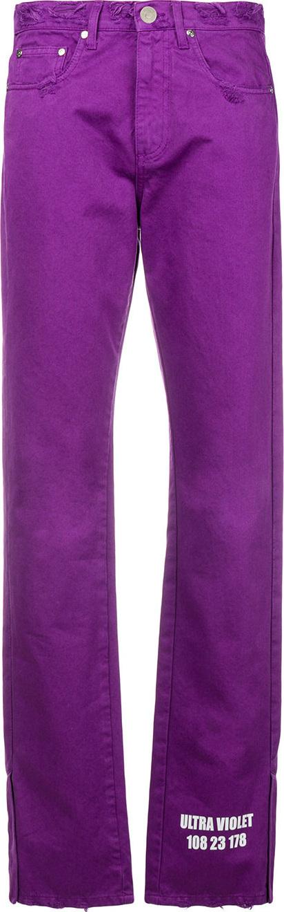 MSGM Distressed straight jeans