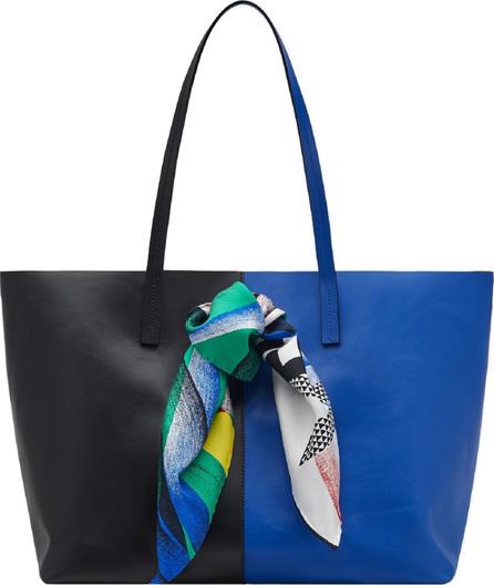 Versace Clash Bicolor Leather Tote