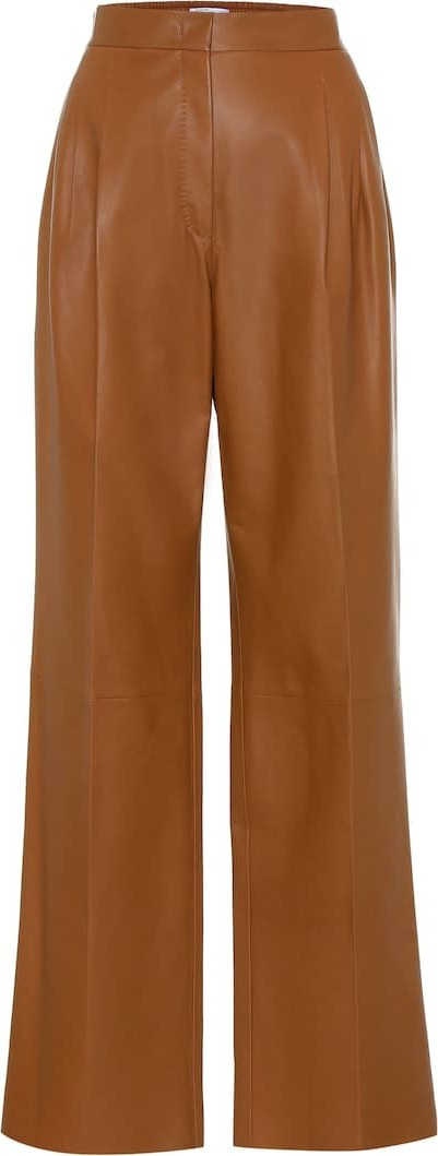 Agnona High-rise leather pants