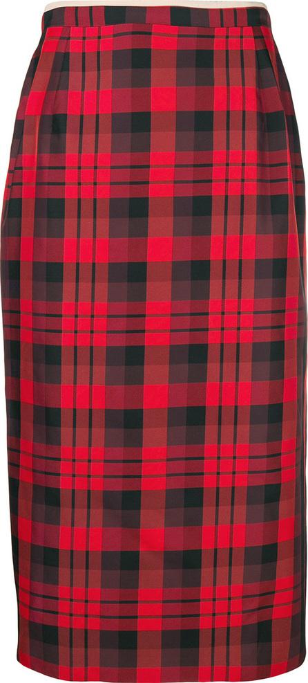 Nº21 Tartan midi pencil skirt