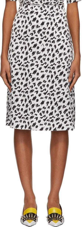 Ashley Williams Black & White Scribble Slip Skirt