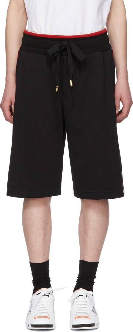 Dolce & Gabbana Black Red Stripe Sweat Shorts