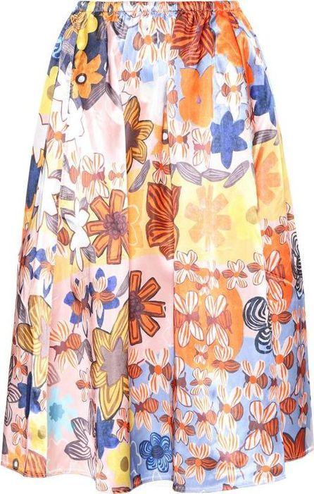 Acne Studios Sabina printed satin skirt
