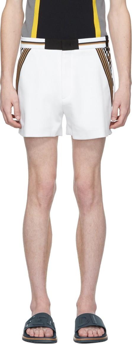 Fendi White Jersey Shorts