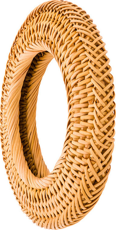 Cult Gaia Small circle rattan bangle