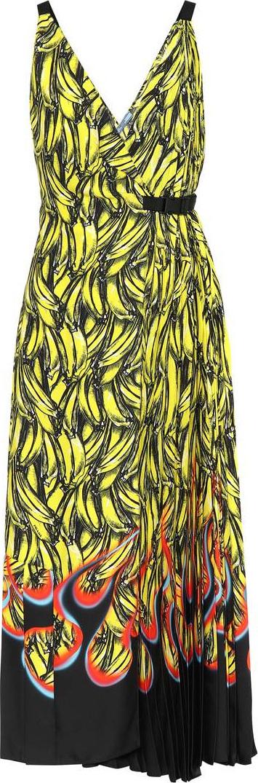 Prada Banana-printed wrap dress