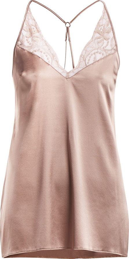 Fleur of England Silk-blend babydoll slip dress