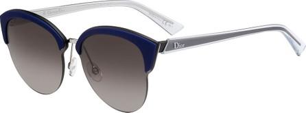 Dior Run Capped Cat-Eye Sunglasses