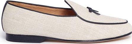 Bing Xu 'Belgian' bow canvas loafers